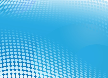 color separation: Blue horizontal rectangular background with balls. Halftone