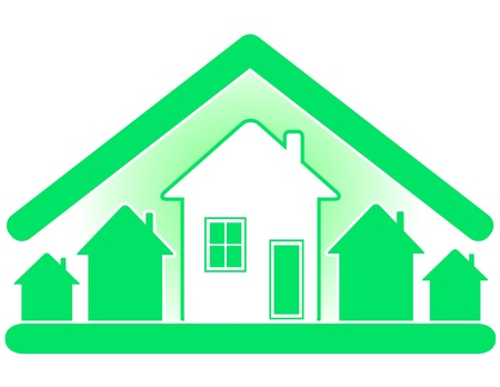 Building and sale of houses with use eco pure materials. Stock Vector - 9932010
