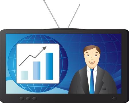 expanding: empresario - reportero inform� noticias de una empresa de �xito
