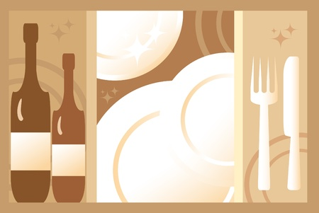 expensive food: Light brown and background for menu and restaurant Illustration