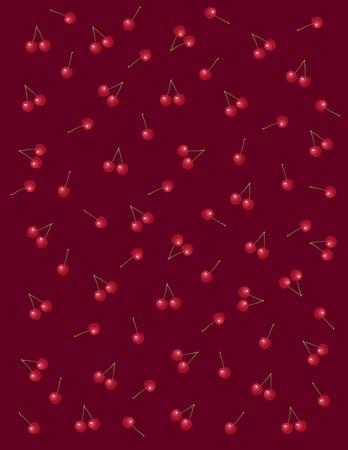 dark red background with a beautiful cherry Vector