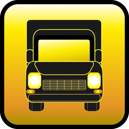 hauling: yellow icon with moving black lorry glowing lights