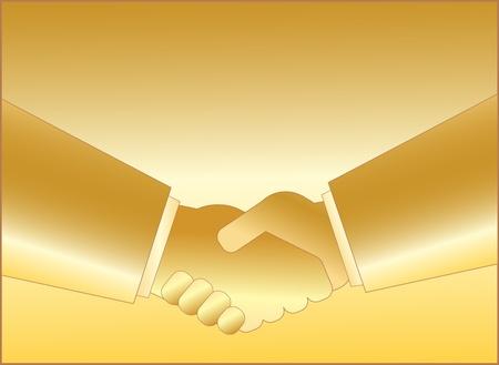 gold handshake symbol of business people Stock Vector - 12340498