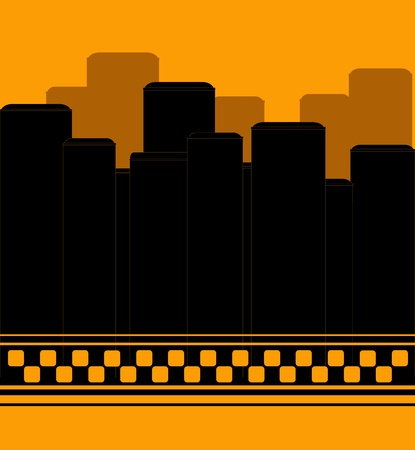 modern taxi background with skyscrapper symbol night taxi Vector