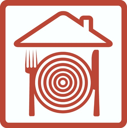 hausmannskost: Symbol mit Utensil Bild Symbol der Hausmannskost Illustration