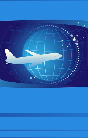 plane ticket: Blue cover of ticket on international airlines