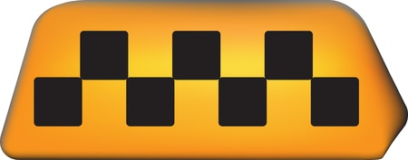 taxicab: international taxi sign contains gradient mesh elements Illustration
