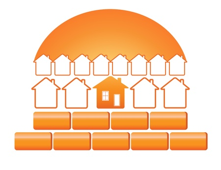 quality home: symbol construction and quality materials Illustration