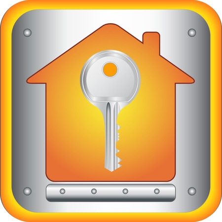 to let: chiave in bella silhouette su sfondo casa