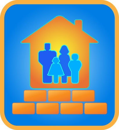 brick house for the family Vector