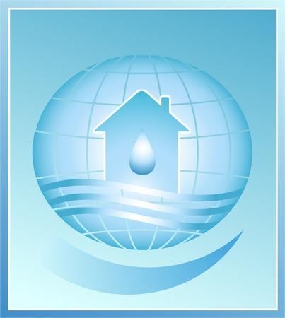 акцент: Дом и падения - символ чистой воды на планете Земля.