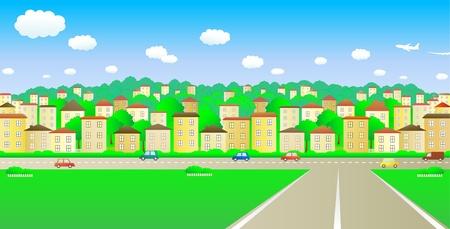 metropolitan: big road and a cozy cheerful city