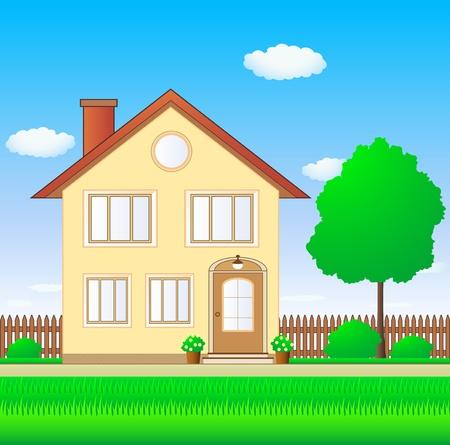 family grass: hermosa casa de lujo con c�sped y jard�n