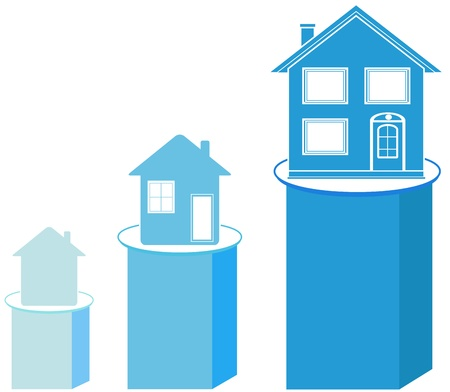 set house project on schedule, construction symbol Vector