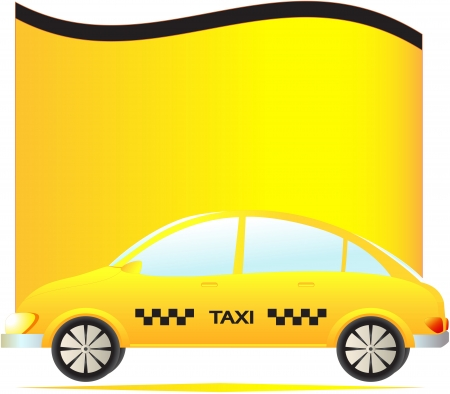 isolated modern taxi cab with space for text Vector