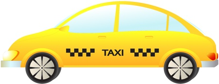 isolated modern taxi car on white background Vector