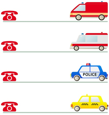 facia: callboard with cartoon isolated sign for mobile social services first aid Illustration