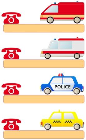 evacuatie: callboard met kleurrijke teken voor sociale diensten eerste hulp en ruimte voor tekst Stock Illustratie