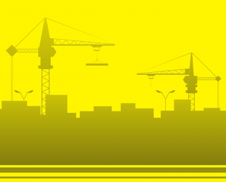 urban construction background with space for text and city landscape Vector