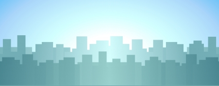 urban landscape with skyscraper, sunrise in city background Vector