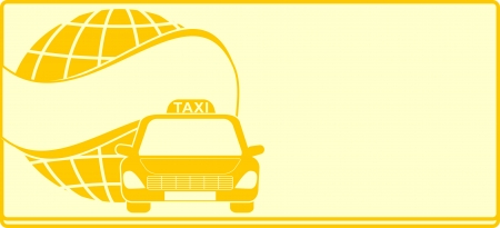 cab yellow background for visiting card taxi Vector