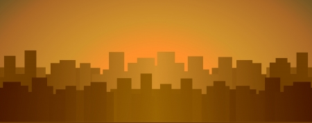 evening urban background with many city house and place for text Stock Vector - 16218144