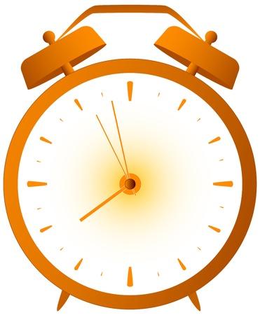 clock icon: cartoon isolated red retro alarm clock
