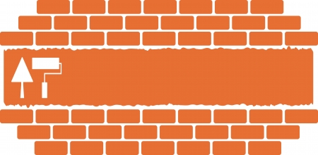 construction background with tools trowel and roller place for text   Vector