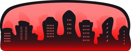 spiteful: black urban background - symbol of crime city Illustration
