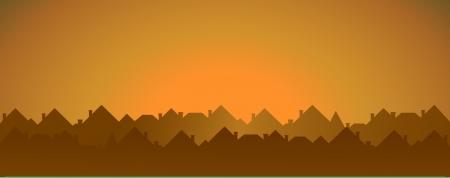datcha: fond chalet soir�e avec place pour le texte Illustration