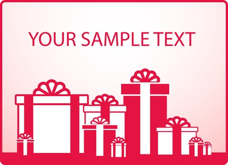 marrying: background with holiday gift for wedding and sample text
