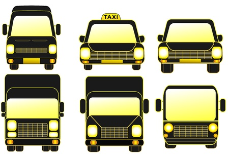 set isolated delivery transport objects   Stock Vector - 18496854