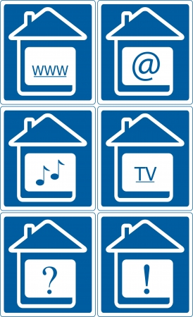 blue icons - set internet banners for site design Vector