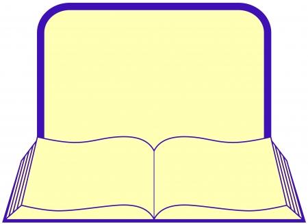 peri�dico: �cone com livro aberto com moldura e lugar para o texto