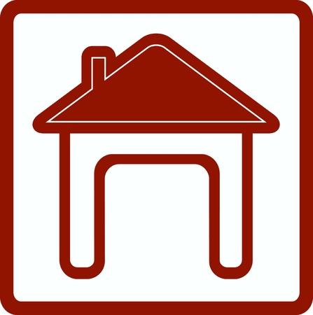 sign house with open door silhouette Stock Vector - 20723660