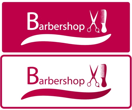 set two background for barbershop industry Stock Vector - 20931366