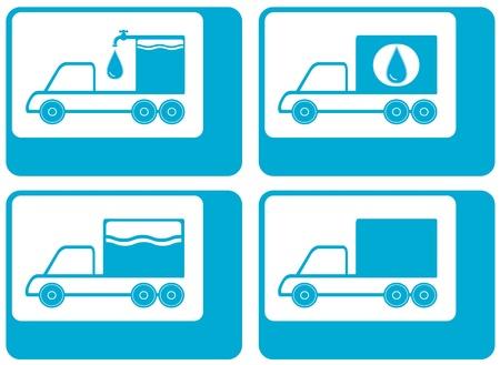source d eau: silhouette de camion - cargo eau symbole Carter Illustration