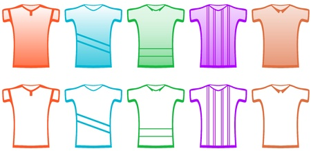 banian: clothes set isolated sports t-shirts