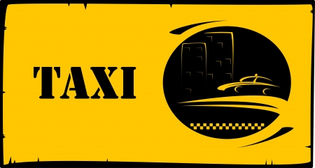 style background for taxi and cab visiting Vector
