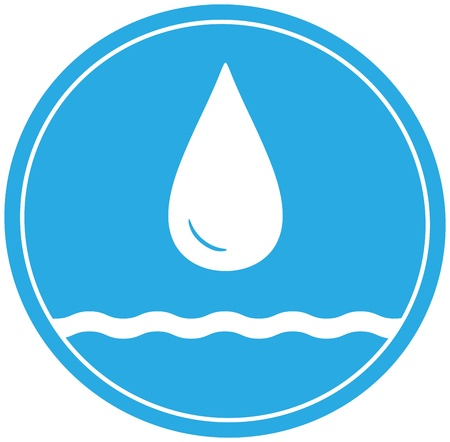 reservoir: blue water icon with drop and wave silhouette