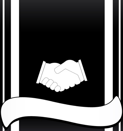 black deal background with handshake and place for text Stock Vector - 22445864