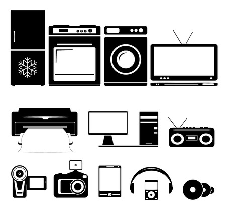 gas laundry: set of home and computer equipment