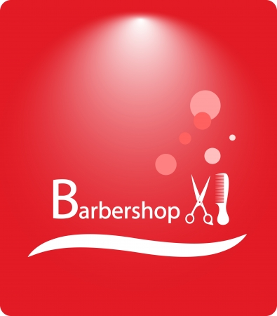 red beautiful background barbershop with shampoo bubbles Stock Vector - 22445885