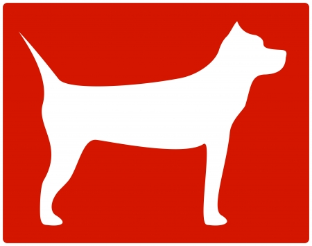 dog bite: red isolated pit bull terrier icon Illustration