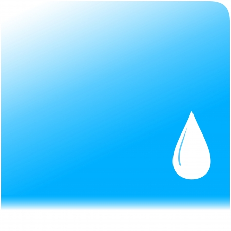 sanitary engineering: blue water background with drop silhouette