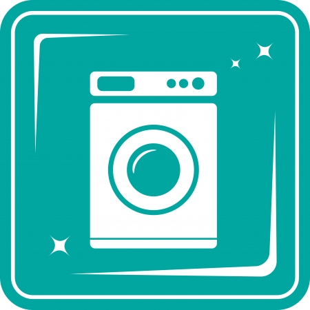 icon with washing machine symbol Vector