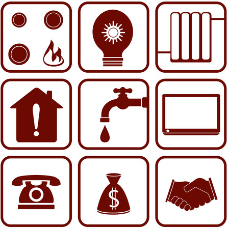 set of isolated home appliance objects Vector