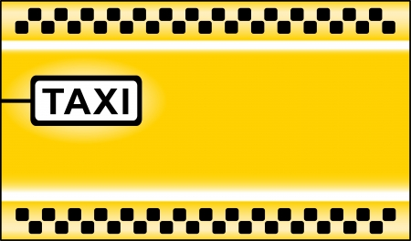 yellow modern taxi stop background Vector