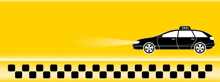 chequerboard: taxi background with place for text Illustration