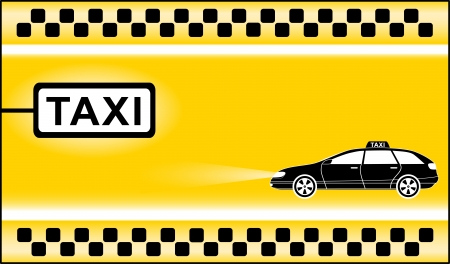 chequerboard: yellow modern taxi background with cab stop
